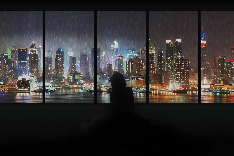 Res: 3000x2000, City Lights (1366x768 Resolution)