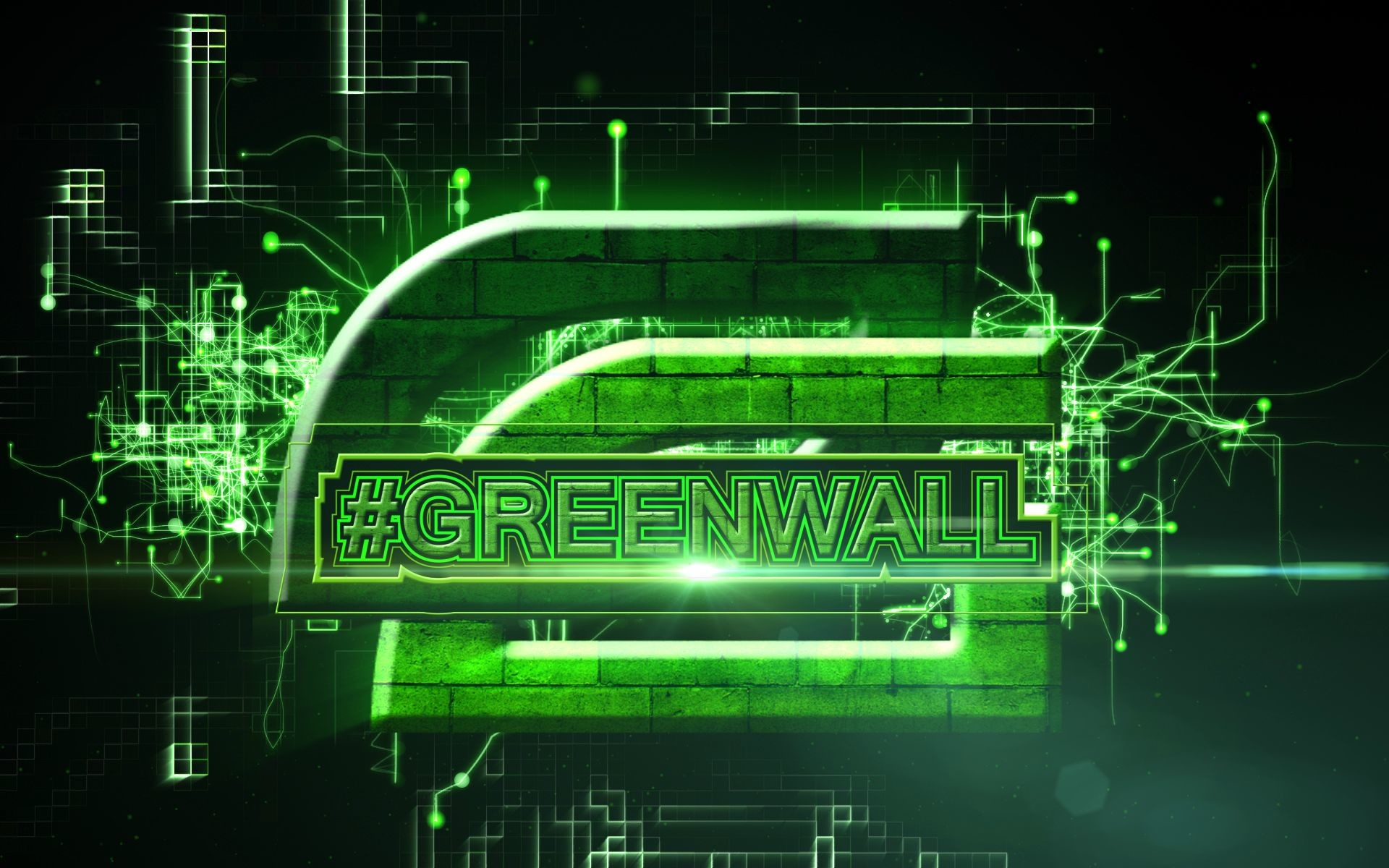 Res: 1920x1200, #Greenwall.  Wallpaper for support of OpTic Gaming Organisation.