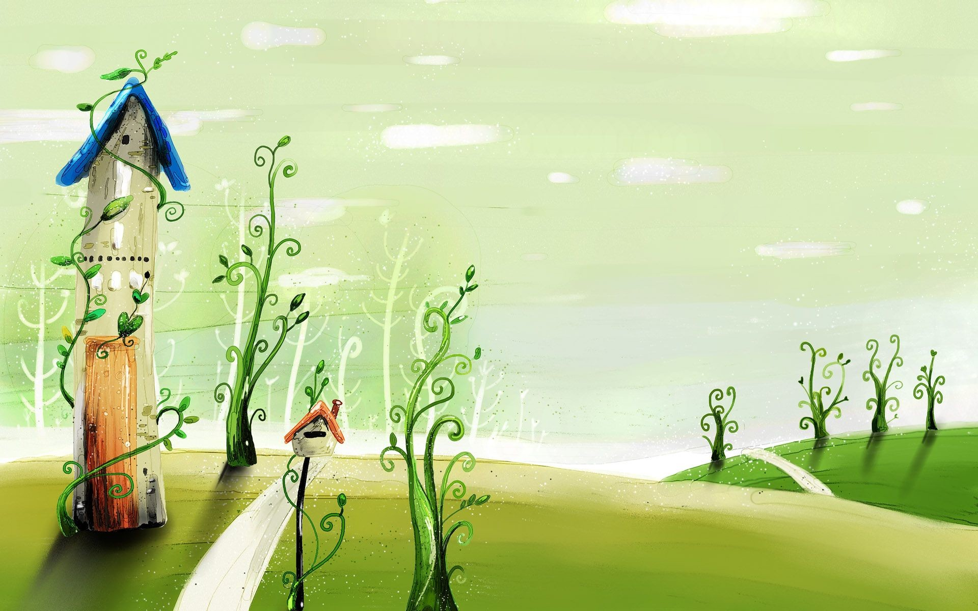 Res: 1920x1200, Cartoon Vector Illustration | cartoon, spring, illustration, vector,  wallpaper, wallpapers .