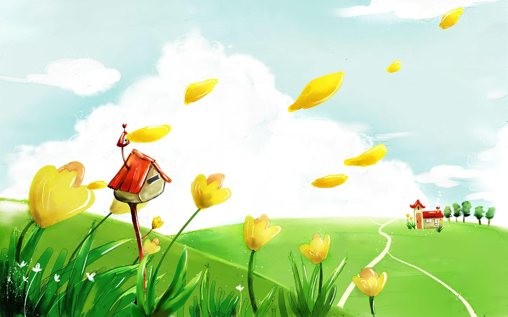Res: 1920x1200, Cartoon Spring Wallpaper 21