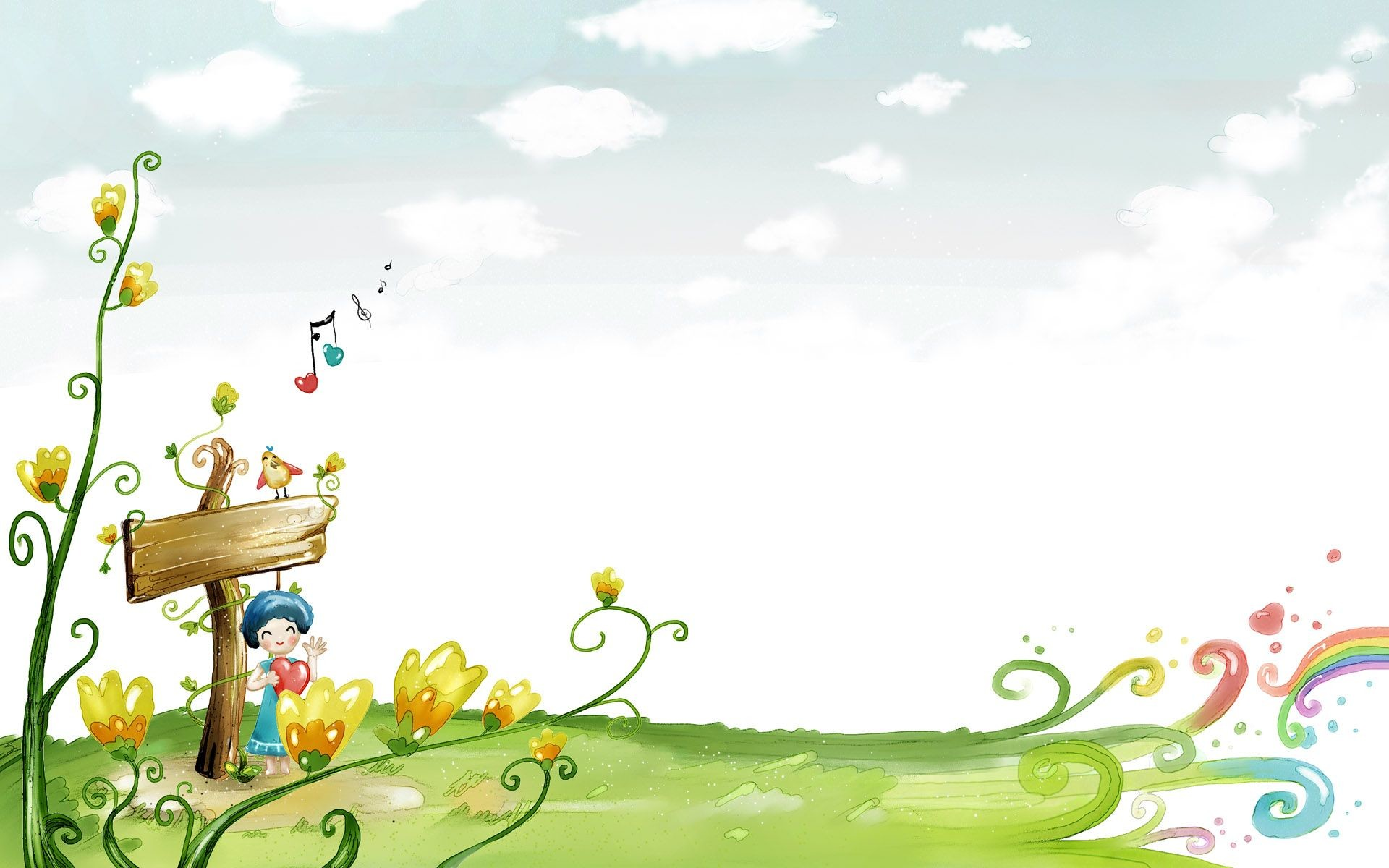 Res: 1920x1200, 2560x1600px Cartoon Background Nature | #327702
