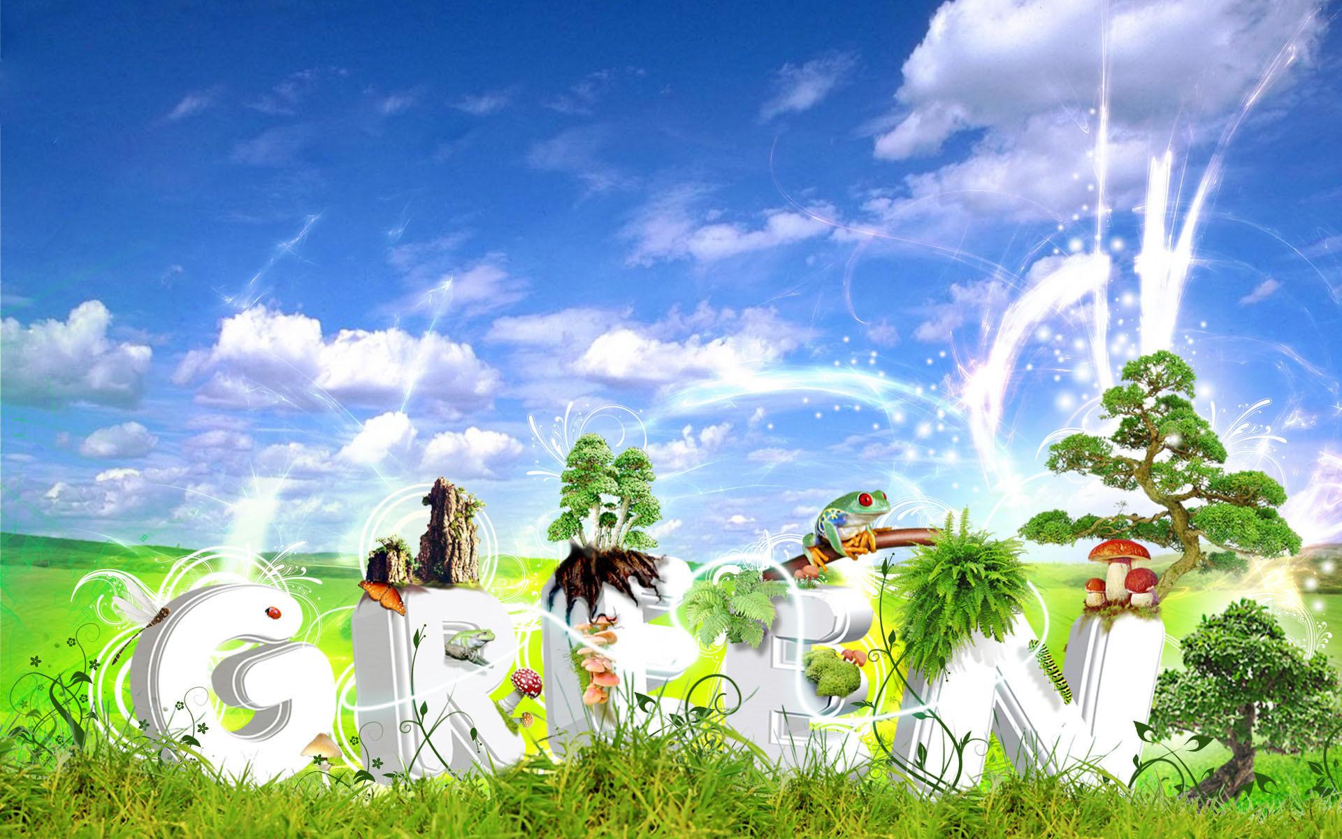Res: 1920x1200, Creative Cartoon Spring High Definition Widescreen Lcd 460366 Wallpaper  wallpaper
