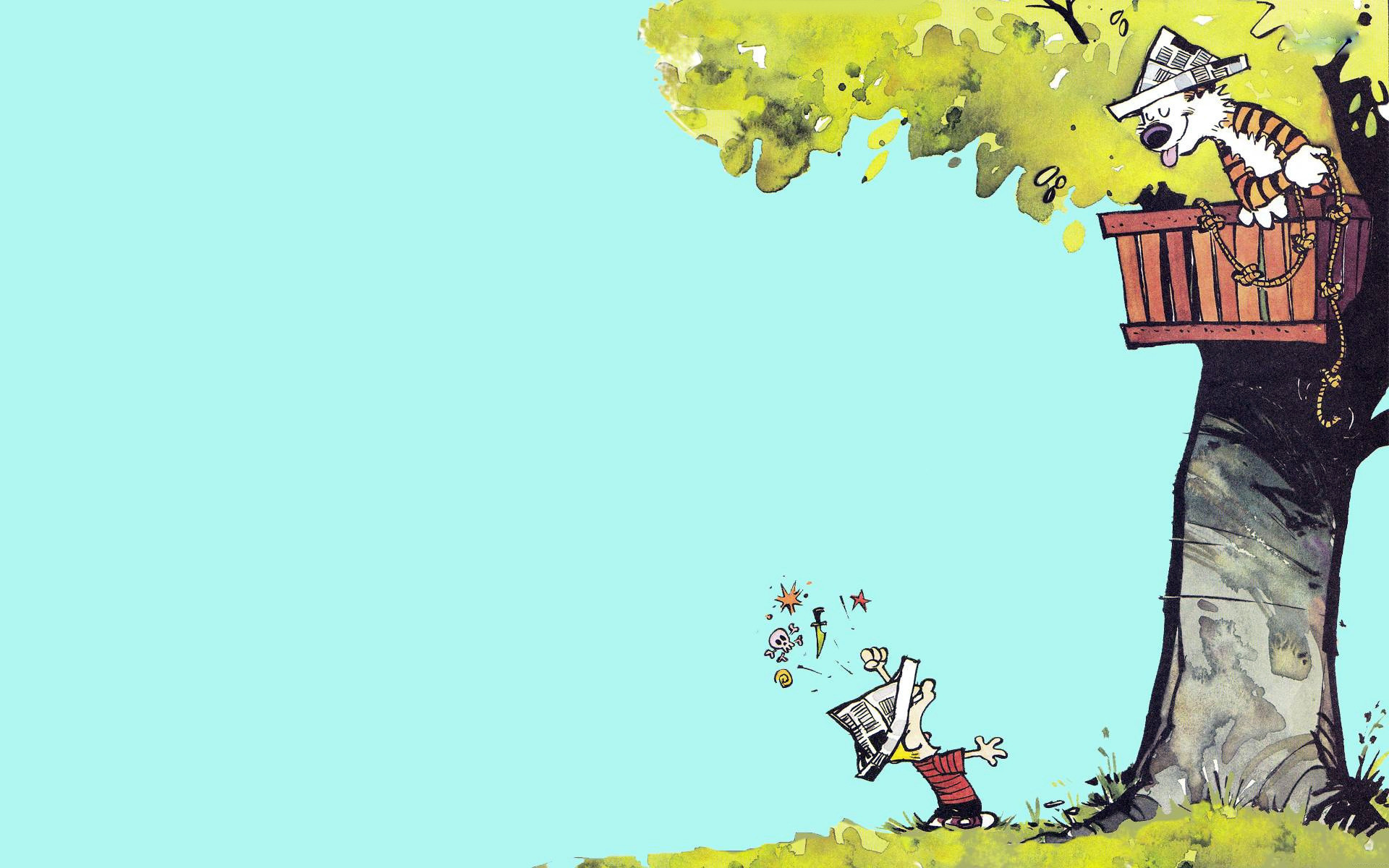 Res: 1920x1200, Download Cute Calvin and Hobbes Wallpapers.