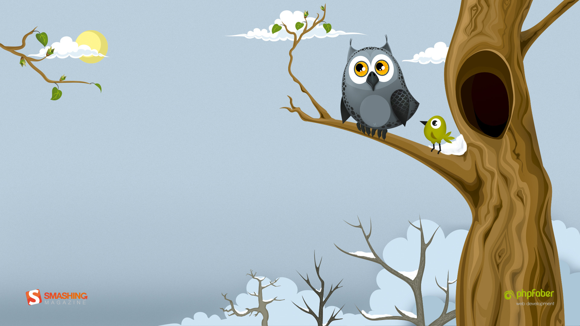 Res: 1920x1080, Image: Owl in the spring wallpapers and stock photos. Â«